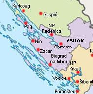 zadar kroatien karte Zadar Karte Kroatien | My Blog zadar kroatien karte